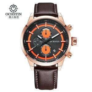 Image 2 - OCHSTIN กีฬานาฬิกาผู้ชายแฟชั่น Casual Chronograph Chronograph นาฬิกาผู้ชายกีฬาชายนาฬิกาควอตซ์ชายนาฬิกานาฬิกาสีเหลือง face