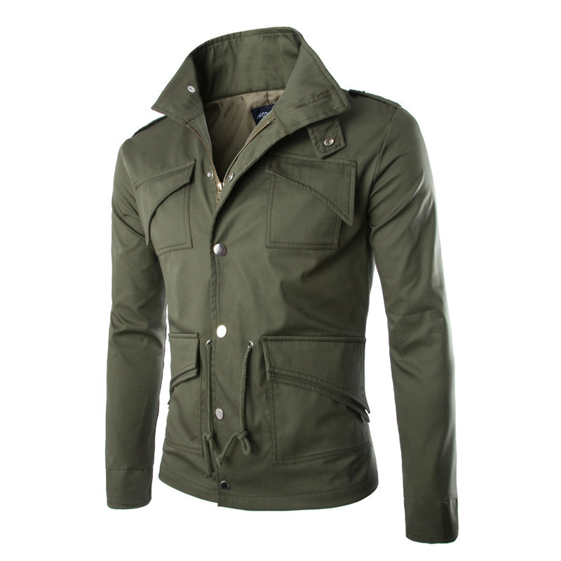 2016 Cotone Di Alta Qualità Giacca Militare Britannico Temperamento Commercio Sottile Di Grande Formato Alla Moda Mens Giacche Esercito Jaqueta Masculina40 Qualità Eccellente