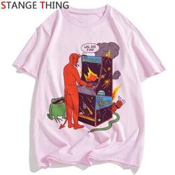 Szatan T Shirt mężczyźni/kobiety lucyfer Demon śmierci straszny zło satanizm Grim Reaper Baphomet T-shirt satanistycznych Tshirt mężczyzna/ damski top z krótkim rękawem 3