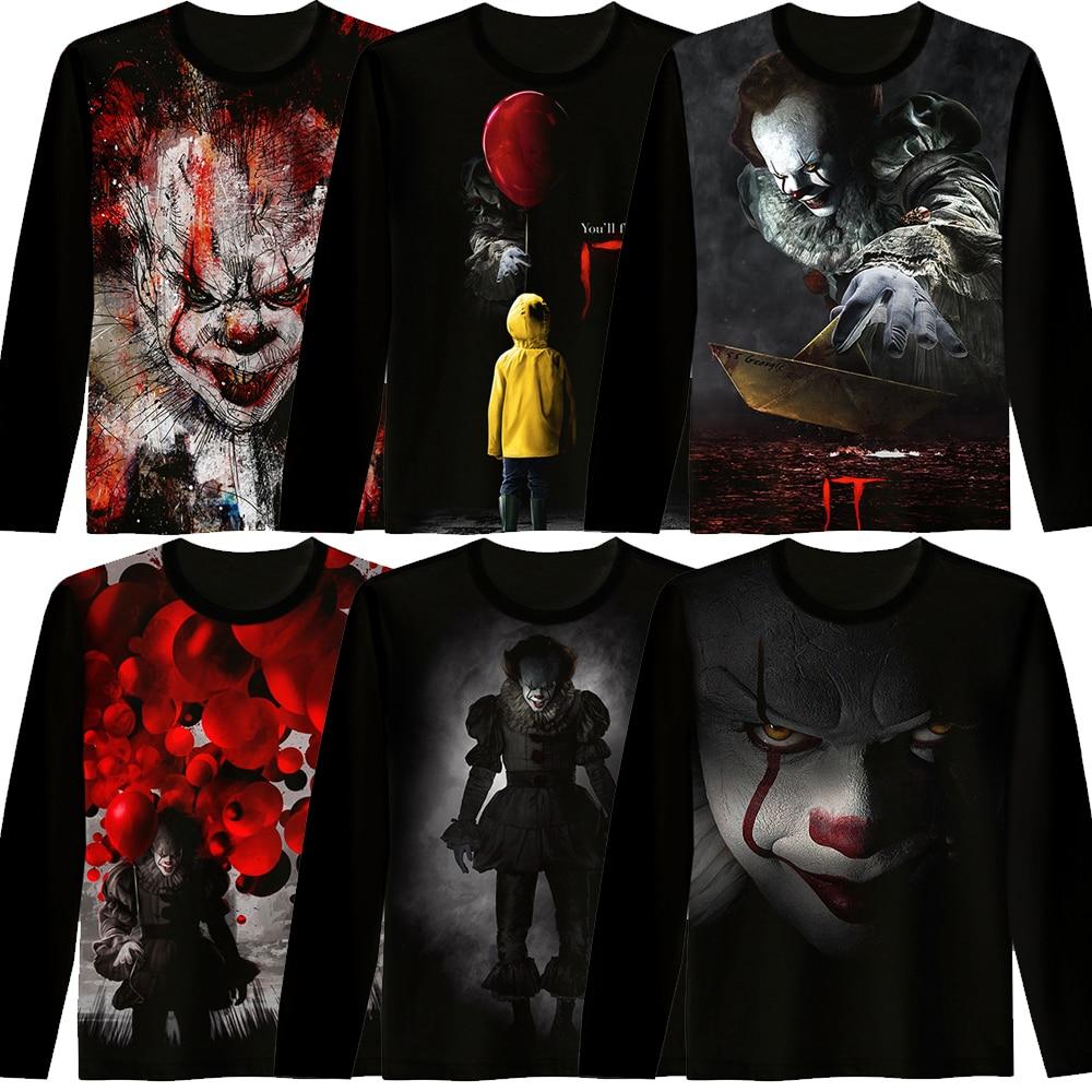 Ailooge New Movie It Pennywise Clown Stephen King 1990 2017 Horror Movie Hoodie Sweatshirt Cosplay Sportswear Tracksuit 2019 New Fashion Style Online Hoodies & Sweatshirts