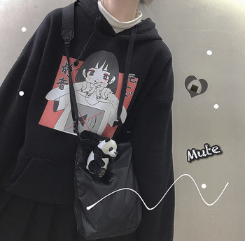2019 Fashion Sweatshirt Hoodie For Women Clothing Korean Ulzzang Harajuku Streetwear Long Sleeve Hooded Sweatshirts Female Top 1