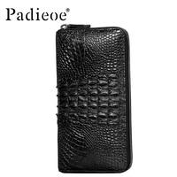Крокодил Логотип Роскошные 100% крокодиловой кожи бумажник мужской бумажник люксовый бренд дизайн мода бумажник для мужчин высокого качеств