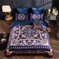 Luxury winter bedding set blue pink beige Fleece fabric duvet cover sets Bohemia style bed linen bedclothes