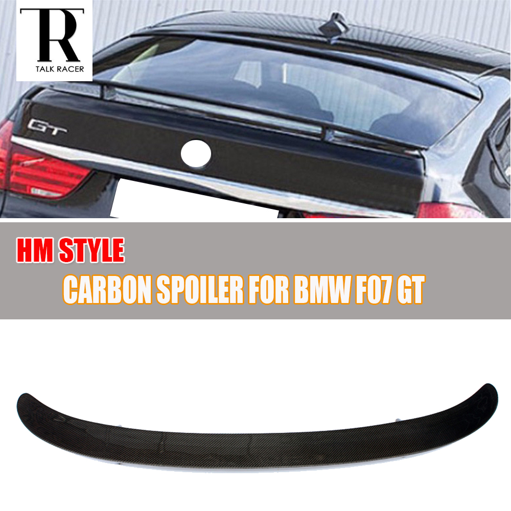 HM Style F07 GT Carbon Fiber Rear Trunk Spoiler for BMW F07 Gran Turismo GT 535i 550i 520d 530d 535d 2010 - 2016 dhl free shipping for bmw f07 gt f11 535i 550i gt xdrive rear air suspension spring bag