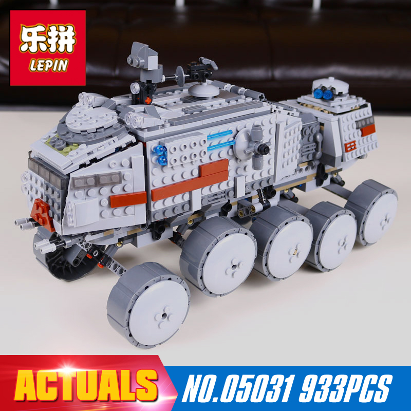 LEPIN 05031 933Pcs Star Wars Clone Turbo Tank 75151 Building Blocks Compatible with 75151 STAR WARS Toy 05031 Boys Toys Gift