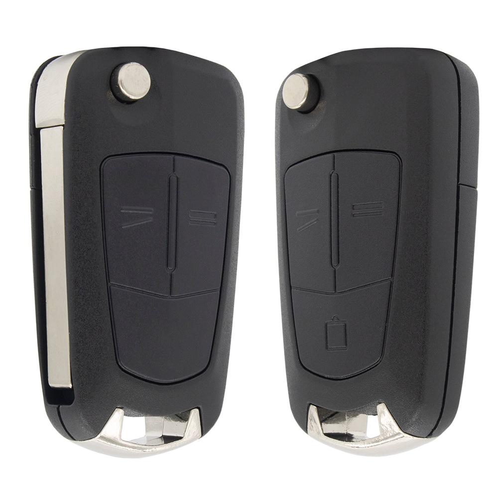 Whatskey 2 botão flip remoto dobrável carro chave fob caso para opel vauxhall corsa d astra j g zafira invecum vectra b mokka g insignia