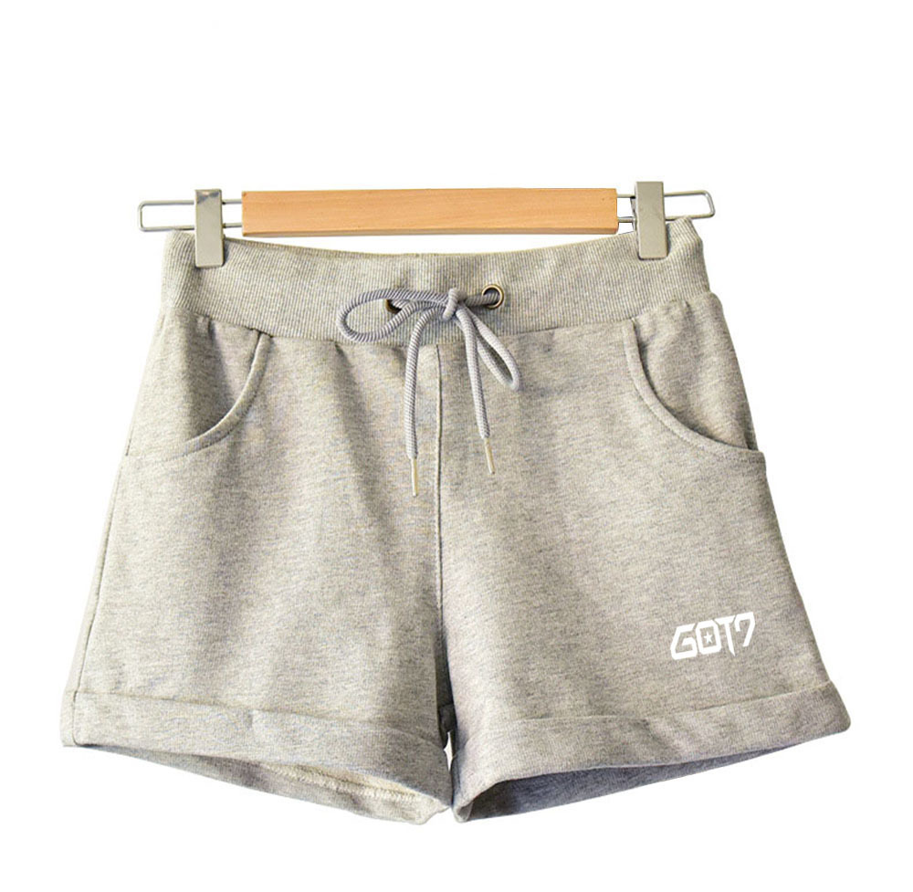 2018 GOT7 official shorts cotton thermal pants loose stars around high-end home pants fashion