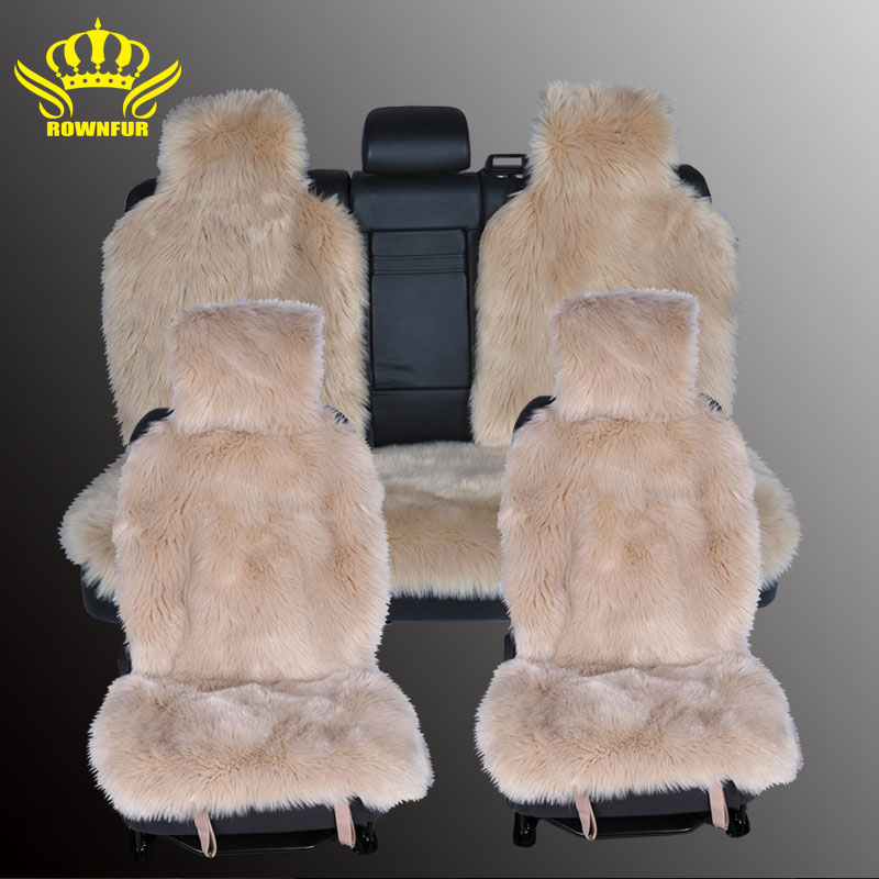 1set long-wool seat covers faux fur car seat covers universal size for all types of seats for renault logan for dacia duster extreme pu leather fur seat covers universal set auto interior covers car seat protector car accessories automobiles