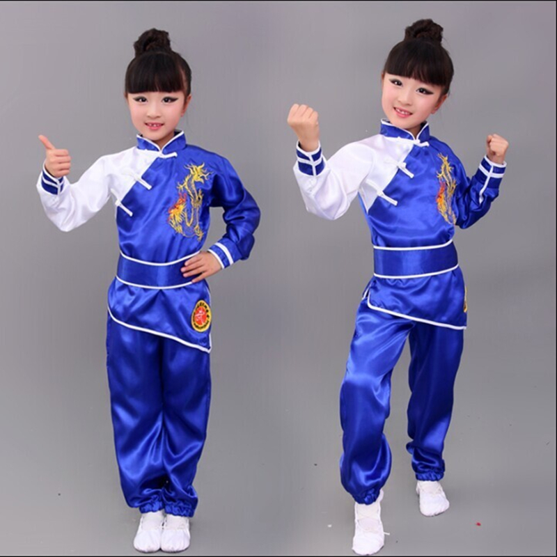 Free Shipping New Martial Arts Suit For Boys And Girls Kung Fu Performance Wear Children Uniform Costume Clothes