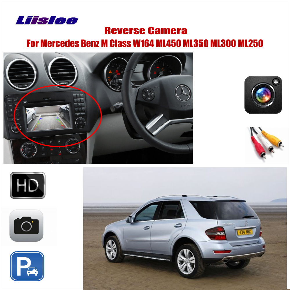 Liislee For Mercedes Benz M Class W164 ML450 ML350 ML300 ML250 Car Reverse Rear View Camera Connect Original Factory Screen in Vehicle Camera from Automobiles Motorcycles