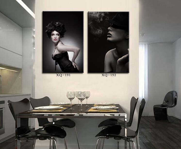 beauty women painting canvas 2 piece wall decor art murals for bar salon posters drawing bedroom. Black Bedroom Furniture Sets. Home Design Ideas
