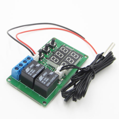 12V Digital Dual Relay Alarm Thermometer Temperature Controller Air Regulator