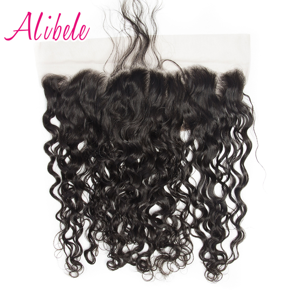 Aibele Brazilian Water Wave Lace Frontal Closure Remy Human Hair 10 20 Ear To Ear 13x4