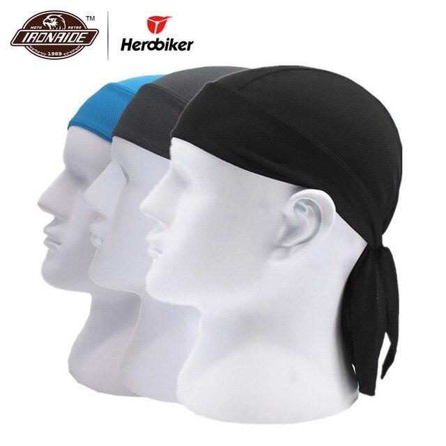 HEROBIKER Motorcycle Face Mask Men Quick Dry Summer Motorcycle Skull Caps Helmet Balaclava Headwrap Bandana Face Shield Headband
