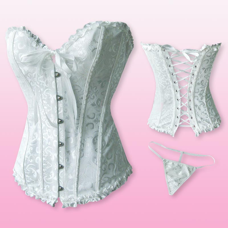 Sexy lingerie plastic steel boned embroidered wedding for Corset bras for wedding dresses