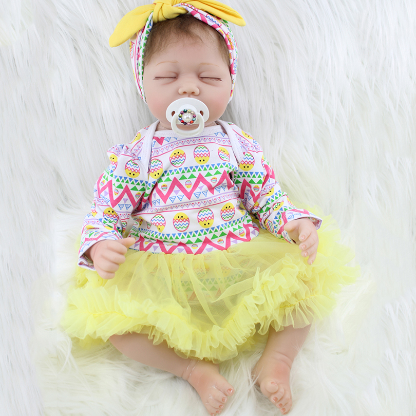 2017 Baby Born Cotton Body Girl Dolls Gift for Children Birthday Silicone Reborn Baby Doll Princess Brinquedos Bedtime Player princess dress for 18 inches american girl doll children bjd baby born dolls handmade accessories toy christmas birthday gift