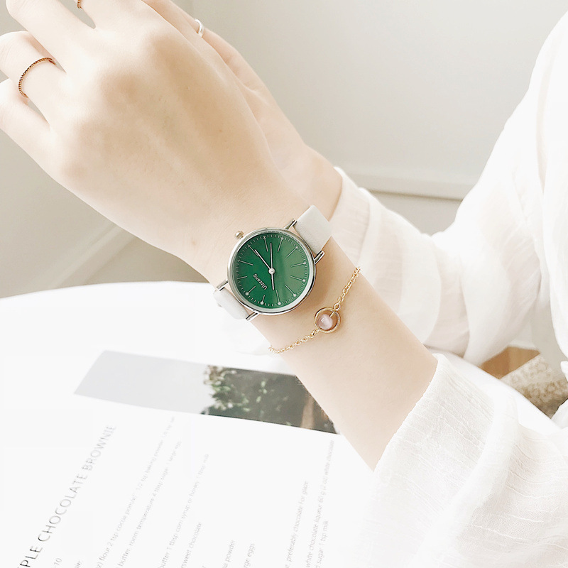 Fresh Women Fashion Watches Qualities Ladies Quartz Wristwatches 2019 Ulzzang Brand Woman Leather Clock Simple Female Watch