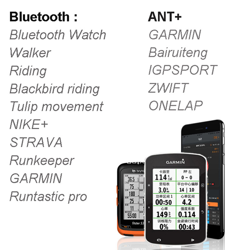 GPS Bike navigation Bicycle Computer 2 6 inch Speedometer Wireless Cycling  Computer Support connection Sensor Heart Rate Monitor