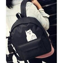 Mendlor  Women Backpack Mochila Backpack Ladies Shoulder Bags Teenage Girls School Backpack Female Animal Prints Black Bags