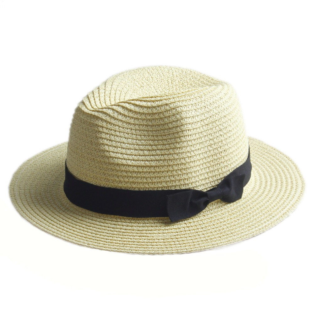 2018 New Brand Summer straw Flower Sun hat kids Beach Sun hat Trilby panama  Hat handwork for girl ... 02efd3f51040