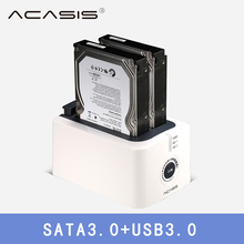 ACASIS USB 3.0 SATA3 Hard Drive Docking Station for 2.5 inch or 3.5 inch HDD Enclosure Cloning Duplicator Box harddisk enclosure