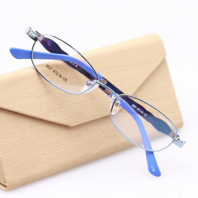 Armações de óculos para crianças para o Menino e Menina Liga Sem Aro Completo Óculos TR90 óculos de armação oculos de grau TD2607 3 Cor Azul Rosa Roxo
