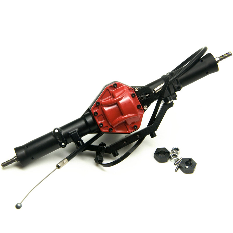 Hot Sale SCX10 Rear Axle With 4WD Lock High Quality Alloy Rear Axle Red For 1:10 Scale RC Crawler AXIAL SCX10 CC01 F350 RC4WD оси для втулок stan s 3 30 3 30ti rear axle 10x135 zh0037