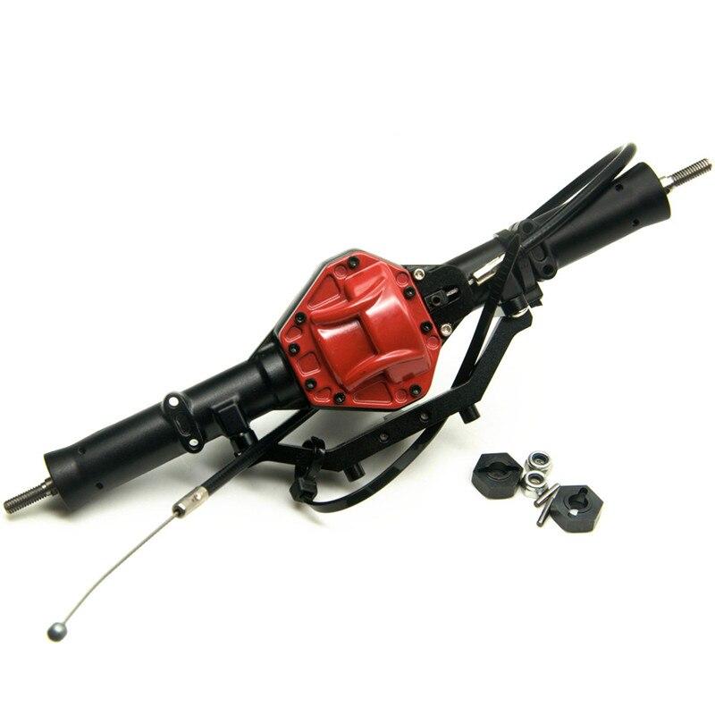 حار بيع SCX10 المحور الخلفي مع قفل عالية الجودة سبائك المحور الخلفي الأحمر ل 1:10 مقياس RC حفارات محوري SCX10 CC01 F350-في قطع غيار وملحقات من الألعاب والهوايات على  مجموعة 1