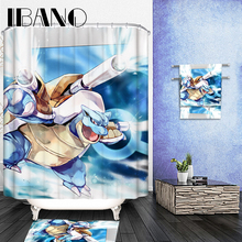 купить 180x180cm Pokemon Shower Curtain Pattern Customized Shower Curtain Waterproof Bathroom Fabric Shower Curtain For Bathroom онлайн