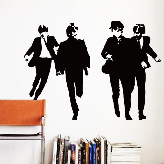 Art Design Cheap home decoration Vinyl famous Beatles Wall Sticker removable British music star decal room  sc 1 st  AliExpress.com : beatles wall decals - www.pureclipart.com