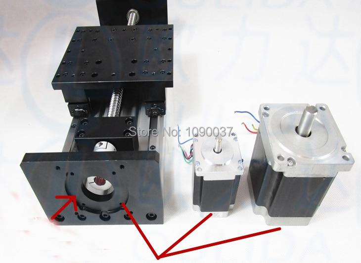 High Precision CNC GX 155*80 1610 Ballscrew Sliding Table effective stroke 300mm+1pc nema 23 stepper motor XYZ axis Linear toothed belt drive motorized stepper motor precision guide rail manufacturer guideway