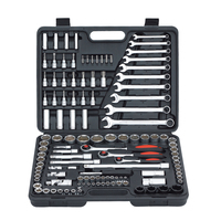 120PCS Ratchet Handle Wench Spanner Socket Set 1/2 Car Repair Tool Hand Combination Tool Kit