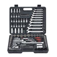 120PCS Ratchet Handle Wench Spanner Socket Set 1/2 Car Repair Tool Hand Combination Tool Kit