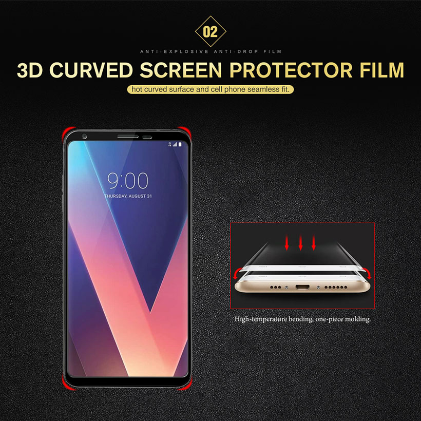Image 3 - Coverage Full Tempered Glass Film For LG V30 V40 V50 V30S ThinQ G8 K12 Plus G7 V35 Sceen Protector Toughened Protective Glass-in Phone Screen Protectors from Cellphones & Telecommunications