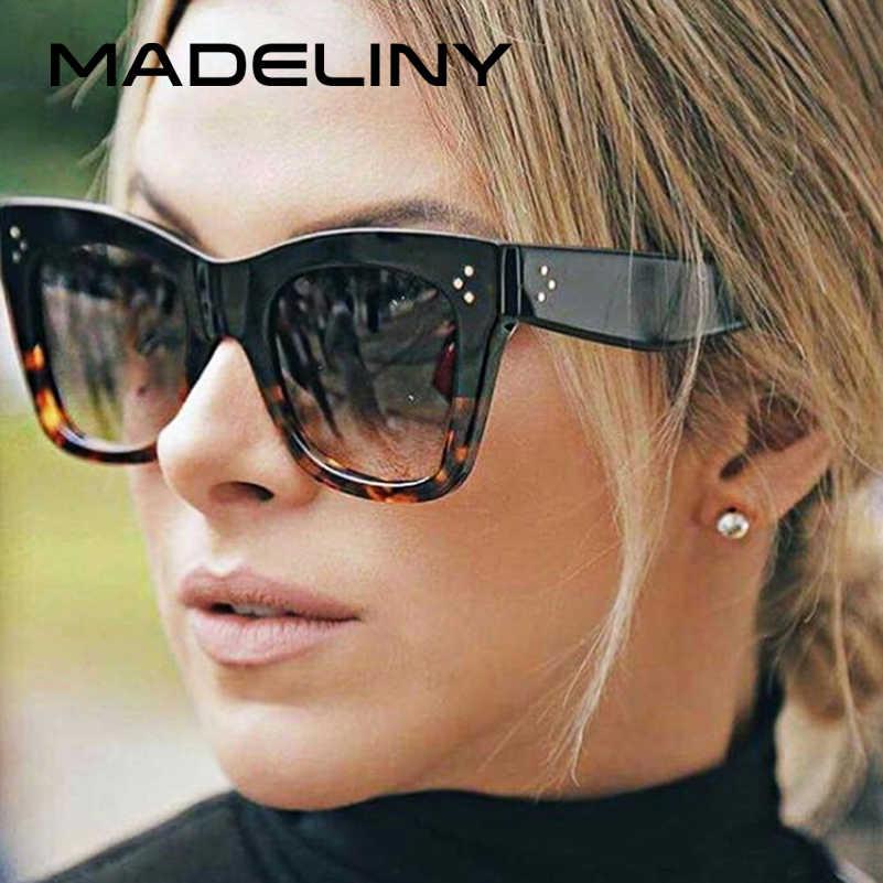 944854a6468 MADELINY New Fashion Vintage Women Sunglasses Brand Designer Luxury Square  Gradient Sun Glasses Shades MA030