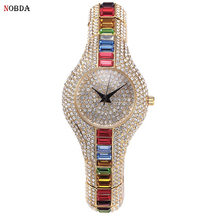 Colorful Crystal Ladies Watch 2017 Famous Brand Fashon Women Watches Quartz Small Female Clock Casual Wrist Watch montre femme