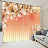 High quality custom 3d curtain fabric sheer curtains modern curtains for living room