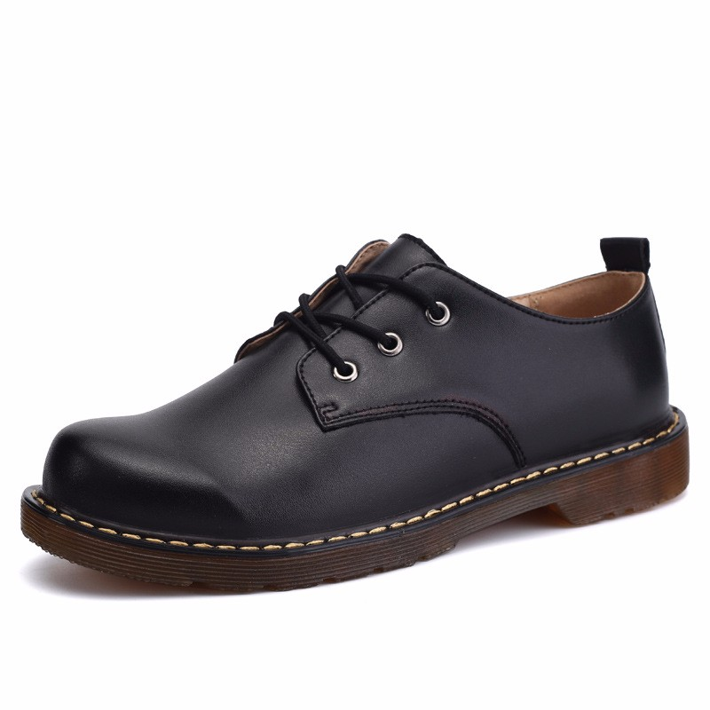 KUYUPP Fashion England Genuine Leather Shoes Women And Men Flats Oxfords Casual Lace Up Ladies Shoes Round Toe Men Loafers PX128 (30)