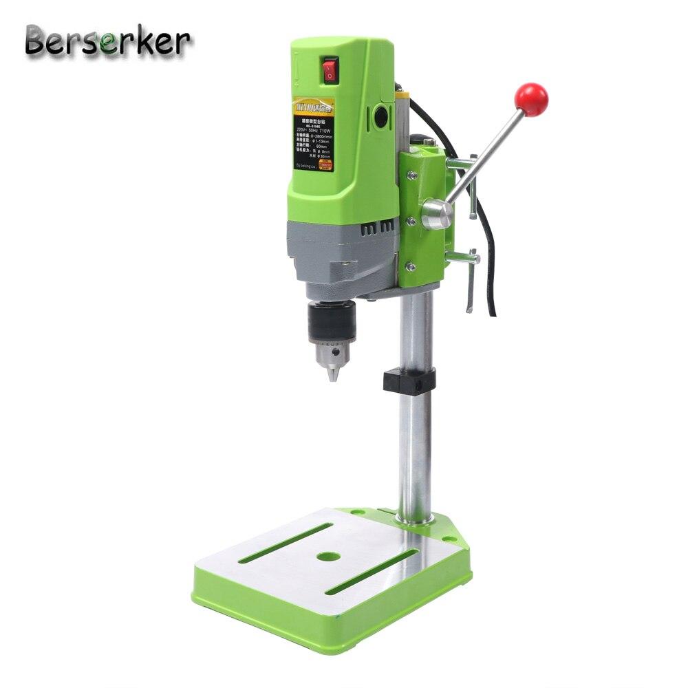 Berserker Mini Banc Perceuse perceuse électrique pour Machine de forage Banc de Travail 220 V 710 W 13mm 5156E Livraison gratuite