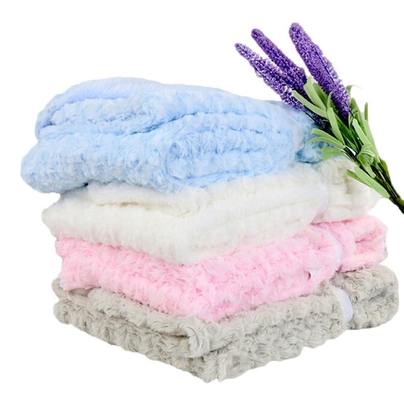 "New rose baby soft blanket kids minky blankets 30""*40"