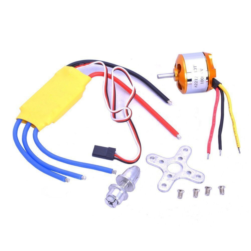 A2212 <font><b>1000KV</b></font> Outrunner Brushless <font><b>Motor</b></font> + 30A ESC Electric Speed Controller Set for Rc Aircraft Plane Multi-copter Quadcopter image