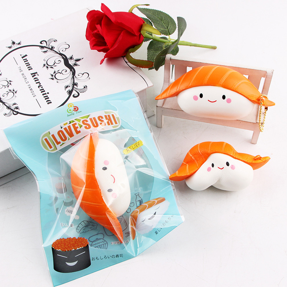 Hot selling Sushi Scented Squeeze Slow Rising Fun Toy Relieve Stress Cure Toy Gift for kids children Dropshipping lowest price #