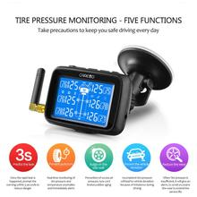 Hot CAREUD Cars Trucks TPMS Car Wireless Tire Pressure Monitoring System + 6 Wheel External Sensor LCD Battery Replaceable