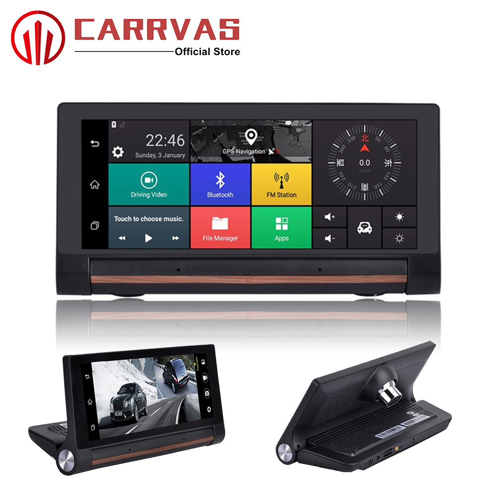 CARRVAS Android GPS DVR For Car 6.86 inch FHD Touch Screen Navigator 3G 4G Support WiFi Bluetooth G-Sensor Buick