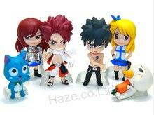 Anime Fairy Tail Natsu Gray Lucy Erza PVC Mini Figures Doll 6 pcs