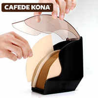 V60 filter paper holder/tapered filter Paper box filtering Paper storage rack stand coffee tools Dust-proof with cover