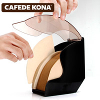 V60 filter paper holder/tapered filter Paper box filtering Paper storage rack stand coffee tools Dust proof with cover