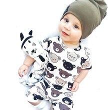 Детский хлопковый комбинезон tinypeople с короткими рукавами