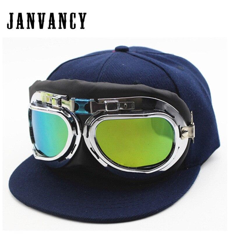 Janvancy Baseball Cap Kids Ski Outdoor Glasses Caps Snapback for Children Boys Girls Adjustable Size Bone