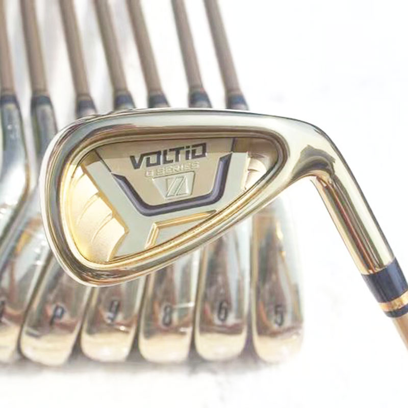 Cooyute New Golf Clubs KATANA VOLTIO HI IV Golf Irons set 5-9PAS Graphite Golf shaft Clubs irons headcover Free shippingCooyute New Golf Clubs KATANA VOLTIO HI IV Golf Irons set 5-9PAS Graphite Golf shaft Clubs irons headcover Free shipping